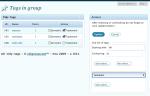 the admin settings UI : with big tags list, it is now possible to select tags starting or containing char(s) or word(s).
