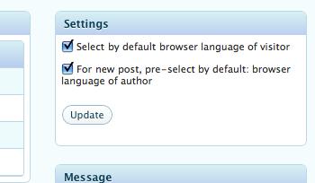 Admin Tools UI - pre-set default language of author according his browser's language.
