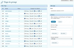 xili-tidy-tags : Admin Tools UI - see this compatible plugin to group tags according languages