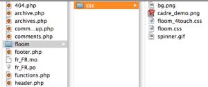 floom sub-folder in theme