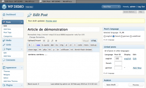 The linked post in french in second tab