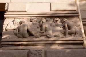 Réunion Bas relief Musée Paléontologie
