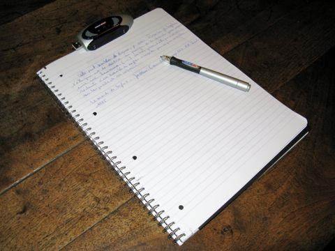 Cahier avec zPen (clé et stylo)