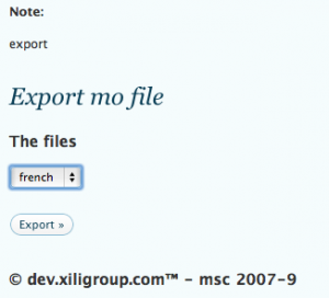 the mo file will be exported in current theme folder