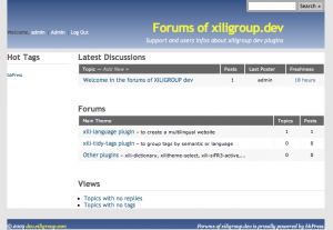 Homepage of forums