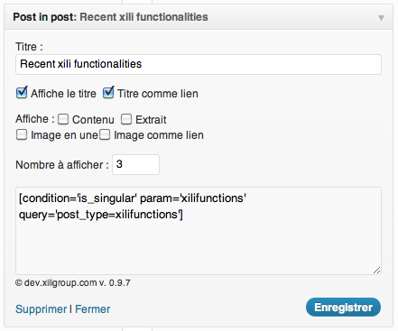 widget postinpost custom posts (fr)